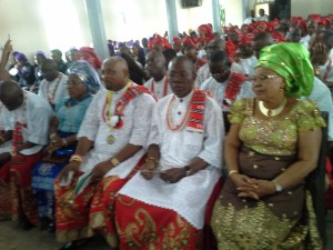 President and Vice President 2 Akp Udo Festus with their Spouses at the Service