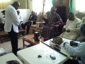 Solemn Moment, Ntisong Prays for MMI President